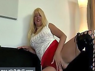 Mature British Shows Tits And Pussy