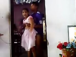 Dirty Desi hottie getting fucked in the doorway and it's pretty awesome