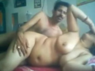 Mustached dude with a hard cock power fucking his pudgy wife on camera