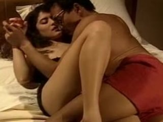 Glamorous Indian wife takes off her sexy black lingerie before getting fucked