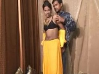 Stunning amateur in yellow is willing to fuck her man for the camera
