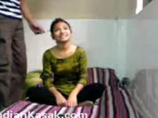 Acrobatic Indian couple fucking around in a tiny room and enjoying it