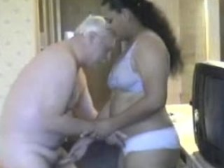 mia khlifa look alike is eaten out and fucked by one really old dude