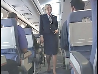 American Stewardess Handjob   Part 6