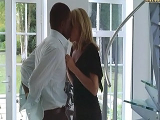 Blonde white woman with black lover   Softcore Interracial