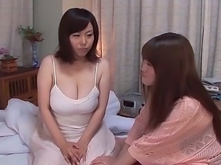 Playing with busty sisters