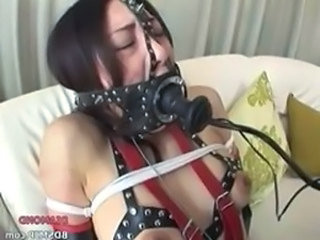 harness bondage and extreme mouth fuck