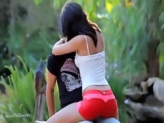 charming wow babe fucking in a forest