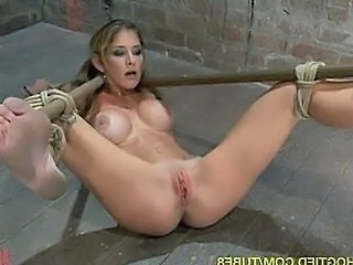 Four Hot Girls Suspended and Fucked in Bondage