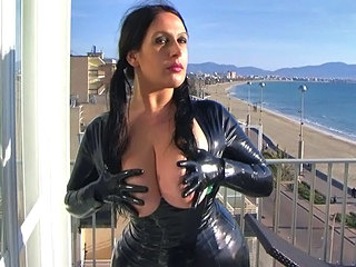 HD Latex Leggins And Dress With...