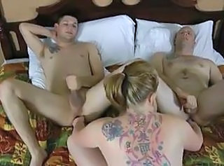 Rose Blume Fucks Conway and Billy J  : bisexuals cream pie cumshots double penetration