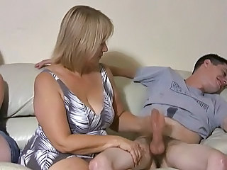 Mother and daughter jerking two