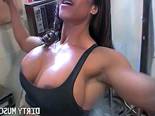 Everything about Rica is big   her clit, her tits, and her muscles, and...