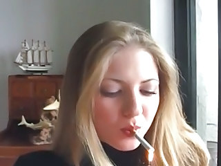 Sexy Vannesa Smoking Cigarette #1