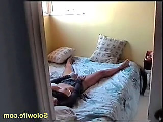 Cute mom caught playing