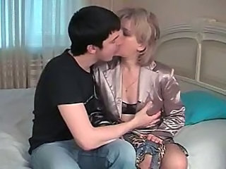 Blonde mom and not her son