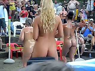 1902413 hot girls outdoor oil wrestling and stuff at ponderosa