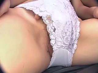 Japanese Lesbian Girls Kiss And Use A Vibrator On Their Pussy