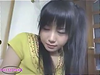 Asian Girl Masturbating on Couch with Young Girl Watching