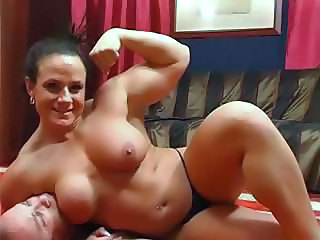 Muscle main wrestles her husband on someone's skin dumbfound and does a bit of element sitting