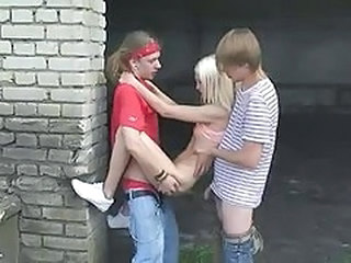 Two sweet russian girls get fucked