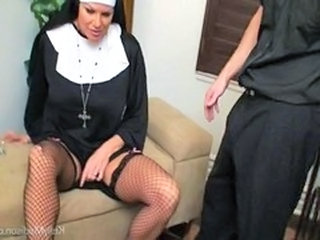 Sex deprived big titted nun Kelly Madison is pleased by a priest with a big cock