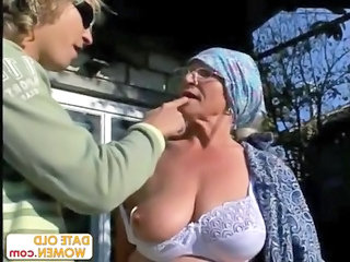 old gets reamed by amateur stud outdoors