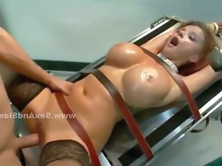 Doctor and assistant take busty naughty the actuality and punish her making out her brutally in extreme threesome sex in all her holes including her tight ass in print regions and spanking video chapter