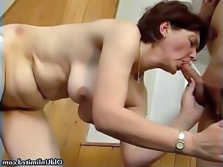 Horny housewife going crazy sucking