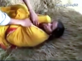 Local village lady Keeru getting her boobs exposed off saree by friends free