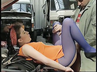 Fisted & assfucked by the mechanic