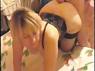 couple fucking   he cums in her ass