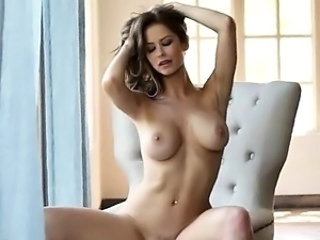 sweet brunette have graceful solo action