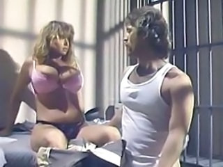 Tracey Adams is a retro jail bird always ready for a fuck with a cellmate
