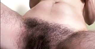 Very Hairy Brunette In Bathroom