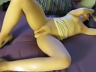 Naughty Selena BBC cuckolding slutwife breeding whore in pantyhose takes 4...