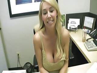 Office Worker With Big Tits Gets A Special Delivery Package!
