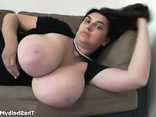Horny natural milf wife showing her huge part5