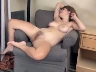 Young Hairy Emma Frost Skipped Work and Fingering