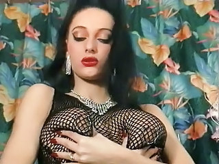 Pierced MILFS with BDSM piercing rings playing pussy