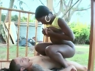 Perfectly Shaped African gal takes the thing And has orgasmed onto Her asshole