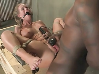 Blonde MILF is Hogtied and Pummeled with BBC