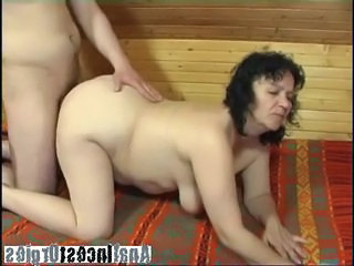 BBW granny pleased by lad cock