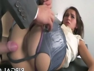 Teen gets her clothes ripped for doggystyle