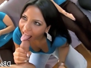 Naughty blowjobs from hot chicks