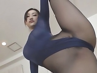 Girl in pantyhose and leotard