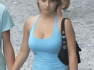 Candid   Best Of   Busty Bouncing Tits Vol 4