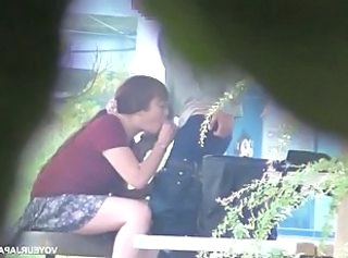 Asian brunette milf gets banged hard outdoors  : hidden cam spy cam voyeur