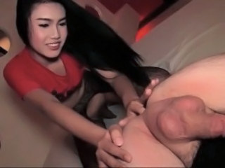 Beautiful ladyboy teasing big penis