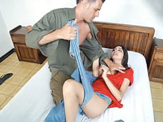 Poor latin Babe gets violently ripped by sick gardener